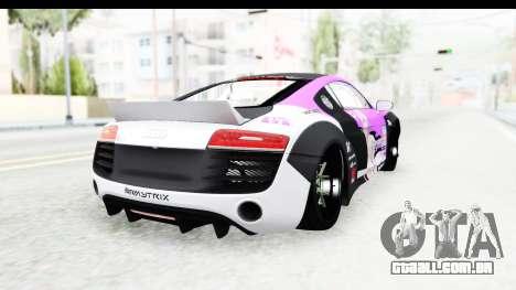 Audi R8 V10 Plus 5.2 FSi 2013 LB Perfomance para GTA San Andreas traseira esquerda vista