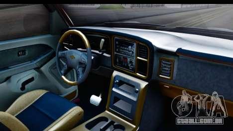 Chevrolet Silverado 2005 Low para GTA San Andreas vista interior