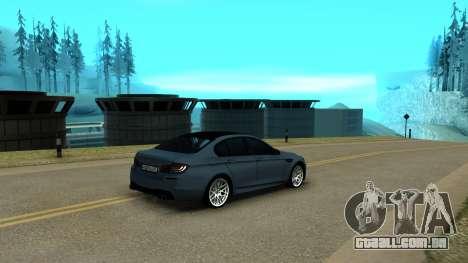 BMW M5 F10 para GTA San Andreas vista direita