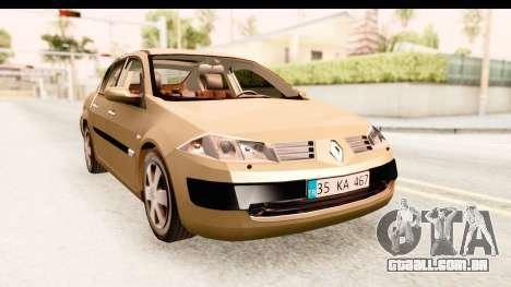 Renault Megane 2 Sedan 2003 para GTA San Andreas vista direita