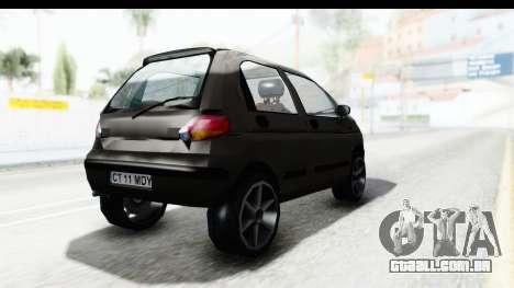Daewoo Matiz para GTA San Andreas vista direita