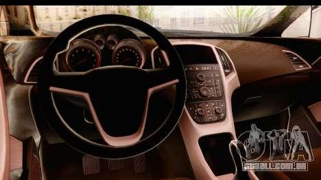 Opel Astra J Tourer para GTA San Andreas vista interior