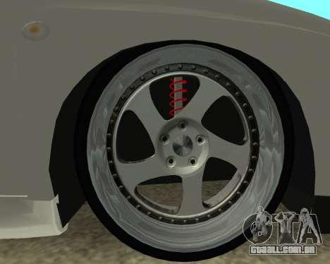 Subaru Impreza Armenian para GTA San Andreas vista traseira