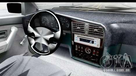 Renault 19 RE para GTA San Andreas vista interior