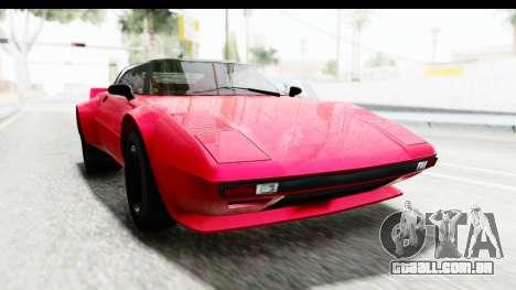 GTA 5 Lampadati Tropos IVF para GTA San Andreas traseira esquerda vista