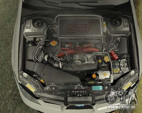 Subaru Impreza Armenian para GTA San Andreas vista superior
