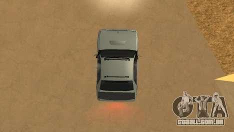 Super Sultan para GTA San Andreas vista traseira