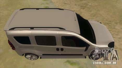 Fiat Doblo 2015 Series para GTA San Andreas vista interior