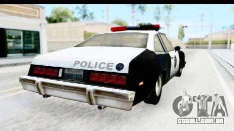 Pontiac Ventura LSPD from Silent Hill 2 para GTA San Andreas esquerda vista