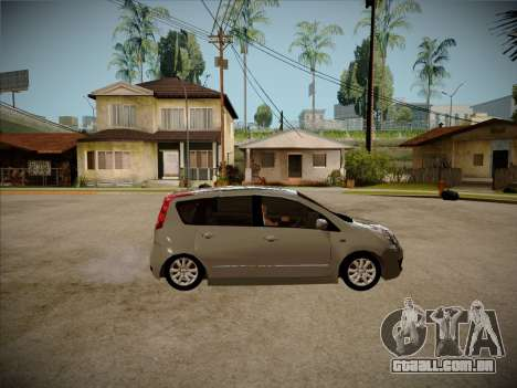 Nissan Note 2008 para GTA San Andreas vista traseira
