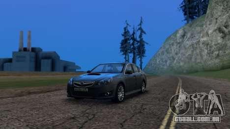 Subaru Legacy 2010 para GTA San Andreas