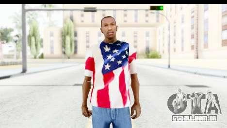 T-Shirt USA Flag para GTA San Andreas segunda tela