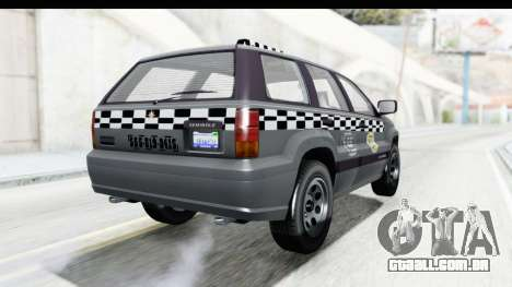 GTA 5 Canis Seminole Taxi para GTA San Andreas traseira esquerda vista