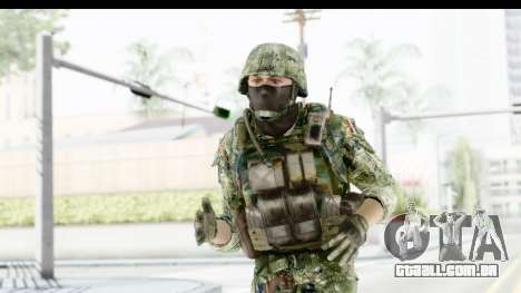 Croatian Soldier para GTA San Andreas