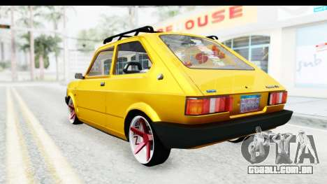 Fiat Spazio Tr Street para GTA San Andreas vista direita