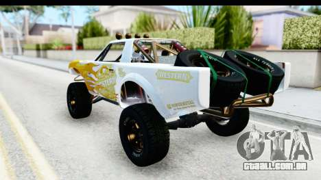 GTA 5 Trophy Truck IVF para GTA San Andreas vista superior