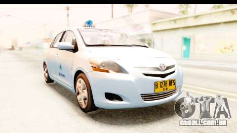 Toyota Vios 2008 Taxi Blue Bird para GTA San Andreas vista direita