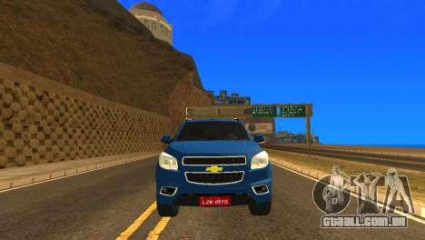 Chevrolet TrailBlazer 2015 LTZ para GTA San Andreas vista interior