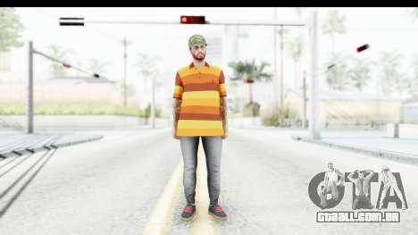 Skin Male Random 3 GTA Online para GTA San Andreas segunda tela