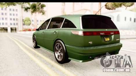 GTA 5 (4) Dinka Perennial para GTA San Andreas esquerda vista