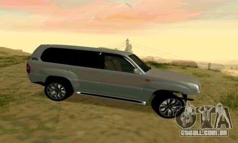 Toyota Land Cruiser 100 para GTA San Andreas vista traseira