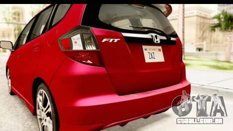 Honda Fit Sport 2009 para GTA San Andreas interior