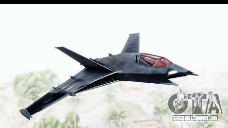 Batman Arkham Origins - Batwing para GTA San Andreas traseira esquerda vista