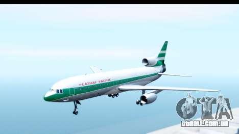 Lockheed L-1011-100 TriStar Cathay Pacific Air para GTA San Andreas traseira esquerda vista