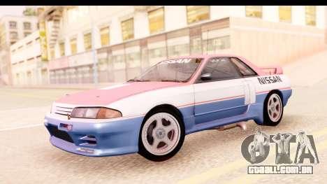 Nissan Skyline Group A para GTA San Andreas traseira esquerda vista