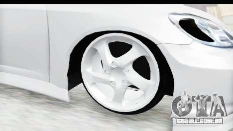 Honda Civic Vtec para GTA San Andreas vista traseira