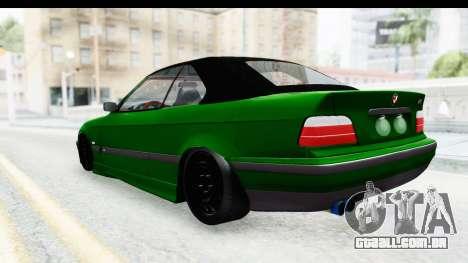 BMW M3 E36 Sloboz Edition para GTA San Andreas traseira esquerda vista