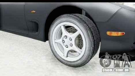 Mazda RX-7 4-doors Fastback para GTA San Andreas vista traseira