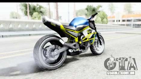 Yamaha Cage Sic para GTA San Andreas esquerda vista