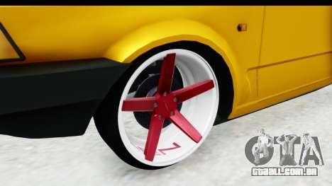 Fiat Spazio Tr Street para GTA San Andreas vista traseira