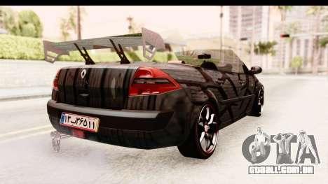 Renault Megane Spyder Full Tuning v2 para GTA San Andreas vista direita