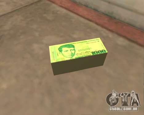 1000 Armenian Dram para GTA San Andreas por diante tela