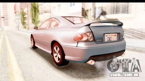 Pontiac GTO 2006 para GTA San Andreas vista direita
