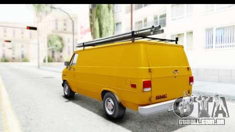 GMC Vandura 1985 HQLM para GTA San Andreas traseira esquerda vista