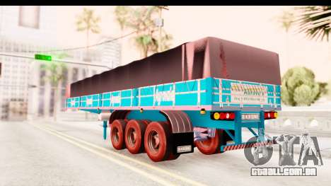 Trailer Brasil v4 para GTA San Andreas traseira esquerda vista