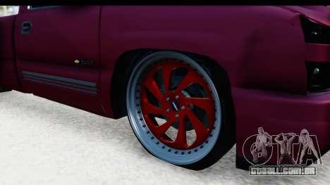 Chevrolet Silverado 2005 Low para GTA San Andreas vista traseira