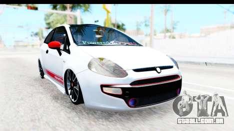 Fiat Punto Abarth para GTA San Andreas esquerda vista