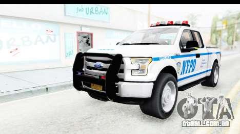 Ford F-150 Police New York para GTA San Andreas