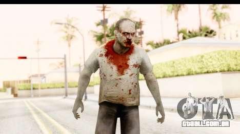 Left 4 Dead 2 - Zombie T-Shirt para GTA San Andreas