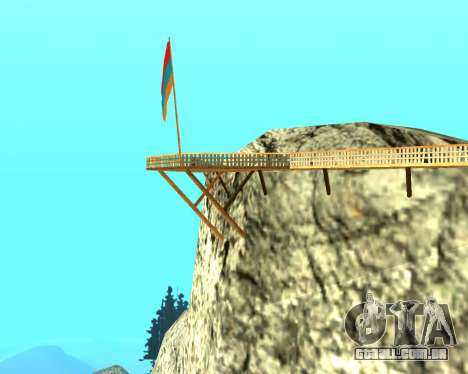 Armenian Flag On Mount Chiliad V-2.0 para GTA San Andreas terceira tela
