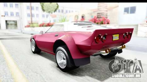 GTA 5 Lampadati Tropos Rallye No Headlights para GTA San Andreas esquerda vista
