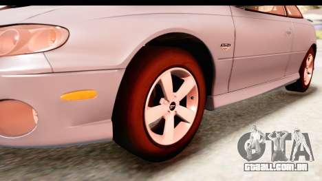 Pontiac GTO 2006 para GTA San Andreas vista traseira