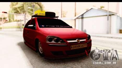 Opel Corsa para GTA San Andreas vista direita