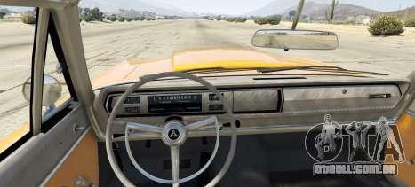 GTA 5 Dodge Coronet 440 1967 traseira vista lateral esquerda