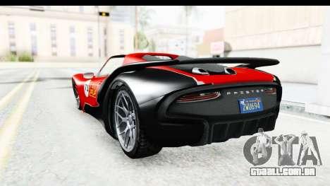 GTA 5 Pfister 811 SA Lights para GTA San Andreas vista superior