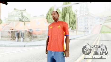 Spain Home Kit 2016 para GTA San Andreas segunda tela